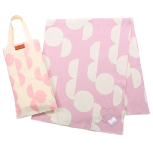 Circle Mod Organic Cotton Blanket Pink
