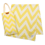 Chevron Organic Cotton Blanket Yellow