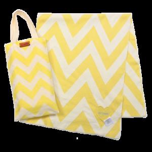 Chevron Organic Cotton Blanket Yellow